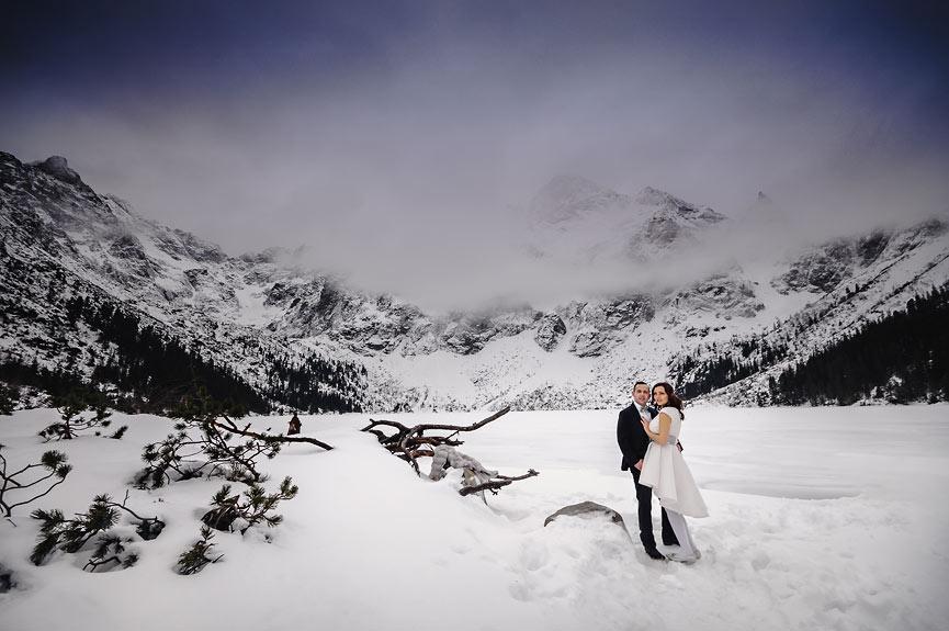 Sesja plenerowa zimą w Tatrach