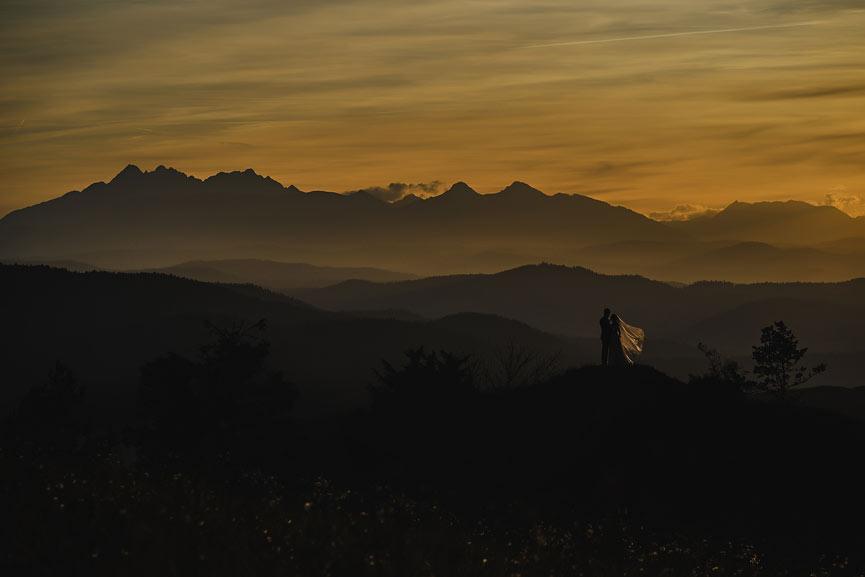 Wyjątkowa sesje ślubna w Górach fotostec