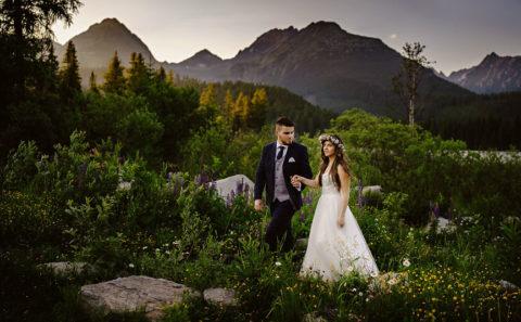 Romantyczny plener ślubny w górach 095