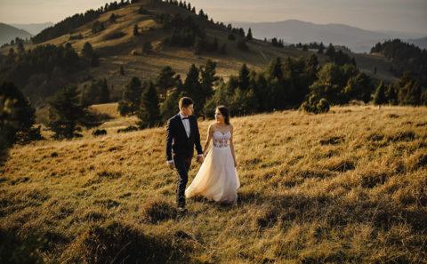 Romantyczny plener ślubny w górach 098