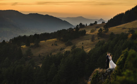 Romantyczny plener ślubny w górach 099